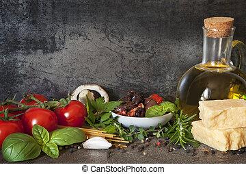 イタリア語, 背景, 食物