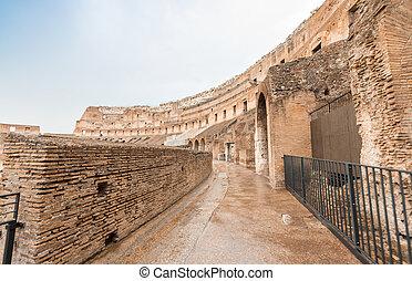 イタリア, 中, -, colosseum, ローマ, 廊下