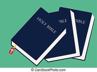 イメージ, ベクトル, 閉じられた, イラスト, 聖書