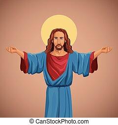 イメージ, 祝福された, キリスト, 宗教, イエス・キリスト