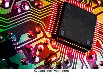 イメージ, 電子, 細部, 背景, マイクロプロセッサ