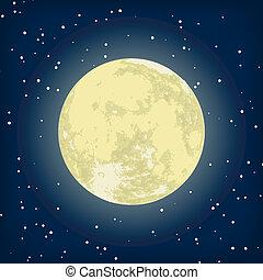イメージ, eps, 月, ベクトル, 8, night.