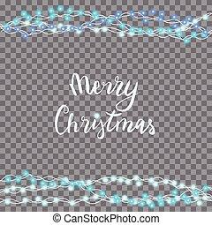 イラスト, ライト, ベクトル, 年, 新しい, クリスマス