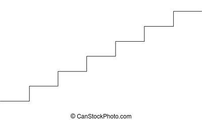 イラスト, 階段。, 図画, 線, 絶え間がない