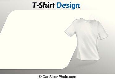 イラスト, 隔離された, の上, tシャツ, バックグラウンド。, ベクトル, デザイン, ブランク, 白, template., mock