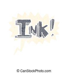 インク, スピーチ泡, 漫画