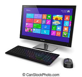 インターフェイス, コンピュータ, touchscreen, デスクトップ