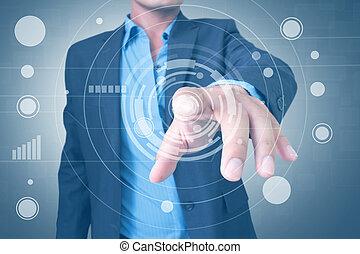 インターフェイス, 使うこと, touchscreen, 人