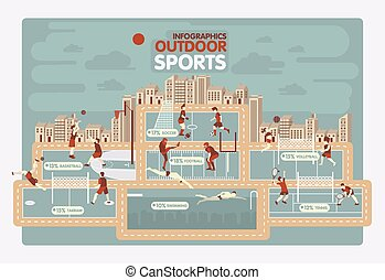 インフォメーション, グラフィックス, アウトドアのスポーツ