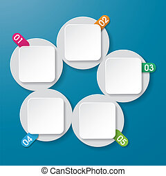 インフォメーション, ラベル, 5, 数, circl