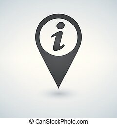 インフォメーション, 地図, 印。, イラスト, 印, アイコン