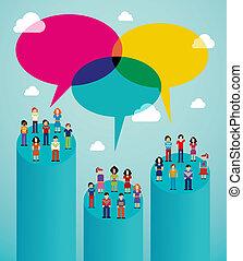 ウィルスである, ネットワーク, 人々, コミュニケーション, 世界的である, 社会