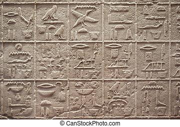 エジプトの hieroglyphics, 執筆