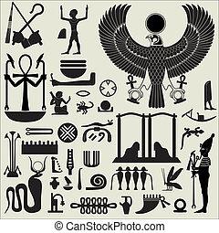 エジプト人, シンボル, 2, セット, サイン