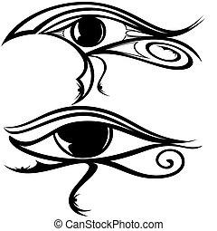 エジプト人, 目, ra, シルエット