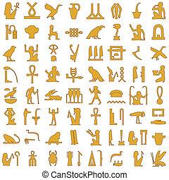 エジプト人, 象形文字, 1, 装飾, セット