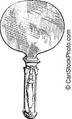 エジプト人, 鏡, engraving., 型