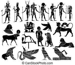 エジプト, ベクトル, 古代, 主題