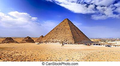 エジプト, 大きい ピラミッド, giza.