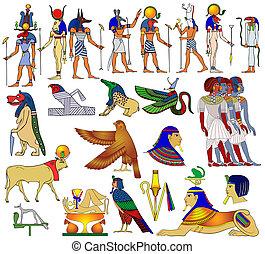 エジプト, 様々, 古代, 主題