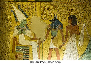エジプト, 絵, 古代, 墓