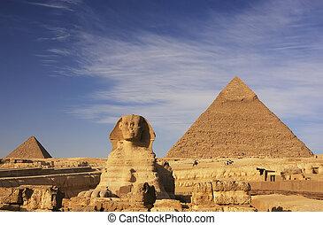 エジプト, khafre, ピラミッド, スフィンクス, カイロ