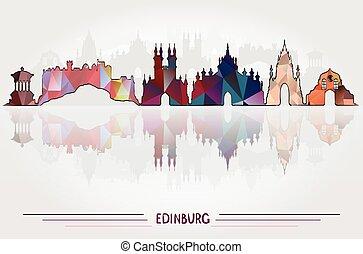 エジンバラ, ベクトル, 背景, 都市