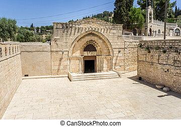 エルサレム, 新しい, イスラエル, 墓, mary