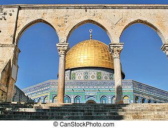 エルサレム, rock., israel., ドーム