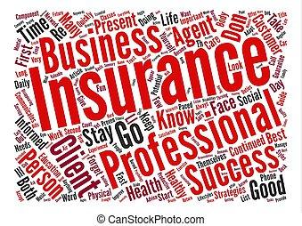 エージェント, 保険, テキスト, 背景, ガイド, 成功, 単語, 雲, 概念, s