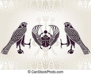 オオタマオシコガネ, horus, エジプト人