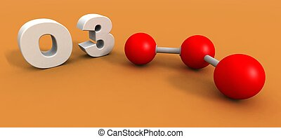 オゾン, 分子