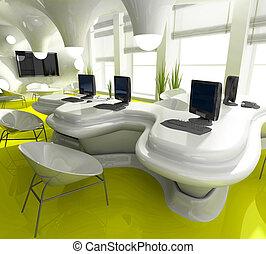 オフィス, 仕事場, 現代