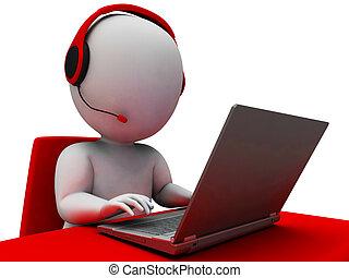 オペレーター, helpdesk, 提示, hotline, サポート