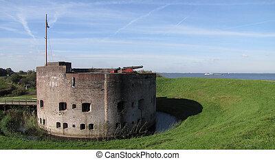 オランダ, の後ろ, 城砦, 堤防