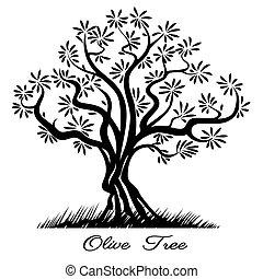 オリーブの木, シルエット