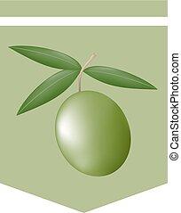 オリーブ, すてきである, 緑, ステッカー, 自然
