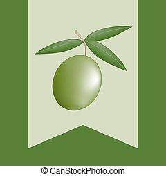 オリーブ, すてきである, 緑, 自然