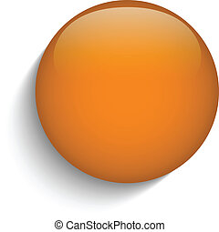 オレンジ, ガラス, ボタン, 円, 背景