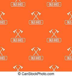 オレンジ, パターン, ベクトル, 古い, おの