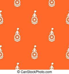 オレンジ, パターン, ベクトル, 機関車