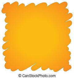 オレンジ, ペン, フェルト, 満たされた, 背景
