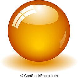 オレンジ, ボール, グロッシー