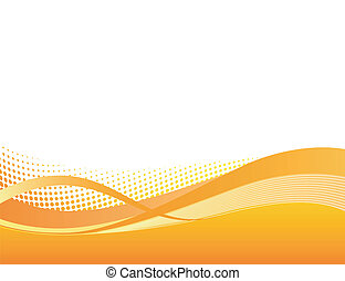 オレンジ, 動的, 背景, swoosh