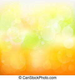 オレンジ, 抽象的, ベクトル, 背景, 黄色