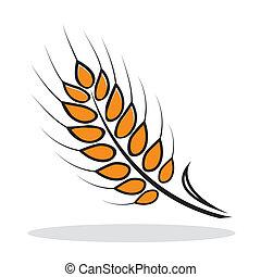 オレンジ, 抽象的, 小麦