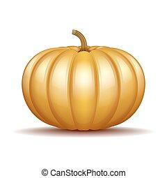オレンジ, 秋, カボチャ, アイコン