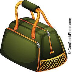 オレンジ, 袋, ジッパー, 緑