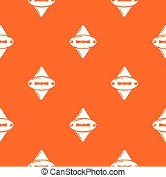 オレンジ, 錠, ベクトル, 古い, パターン