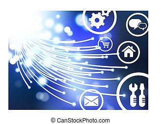 オンラインで, ベクトル, ai8, 背景, ボタン, 目である, 繊維, 互換性がある, オリジナル, illustration:, ケーブル, アイコン, インターネット